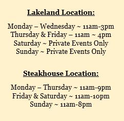 SA new Lakeland Hours
